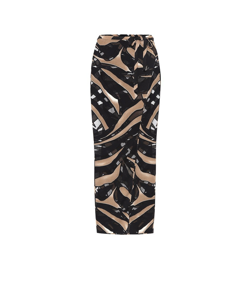 Lisa Marie Fernandez Printed wrap skirt in brown