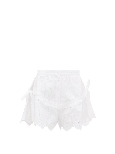 Sir - Delilah Broderie Anglaise Cotton Poplin Shorts - Womens - White