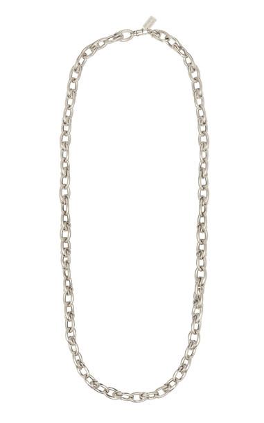 Lauren Rubinski 14K White Gold Lucky Gold Links Necklace