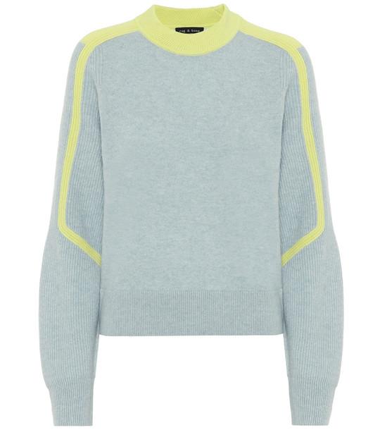Rag & Bone Logan cashmere sweater in blue