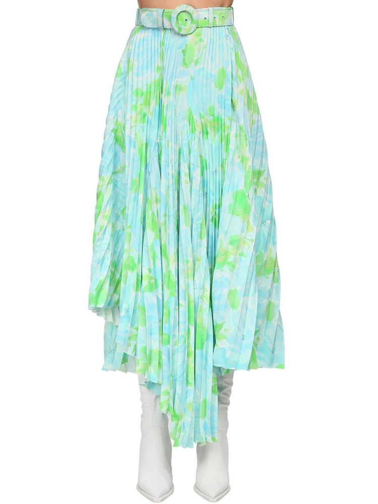 BALENCIAGA Printed Crepe Midi Skirt