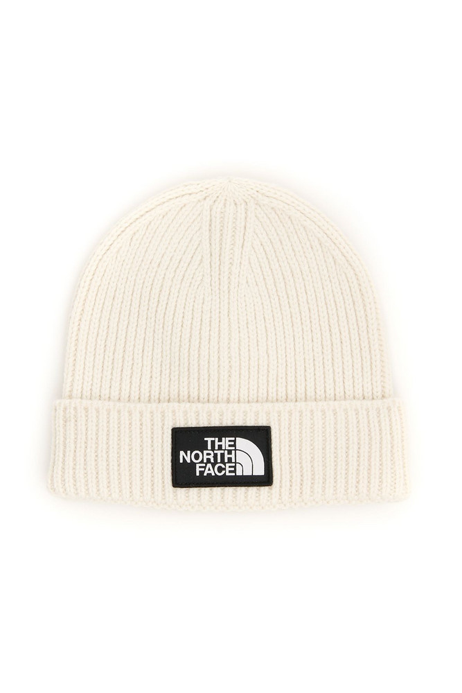 The North Face Logo Beanie in white