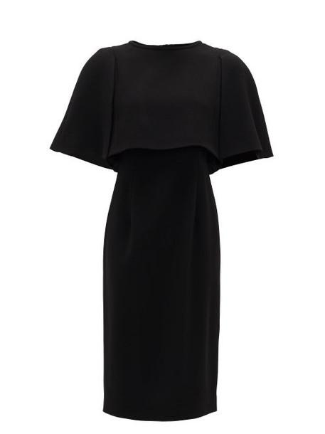 Goat - Cape-bodice Wool-crepe Dress - Womens - Black