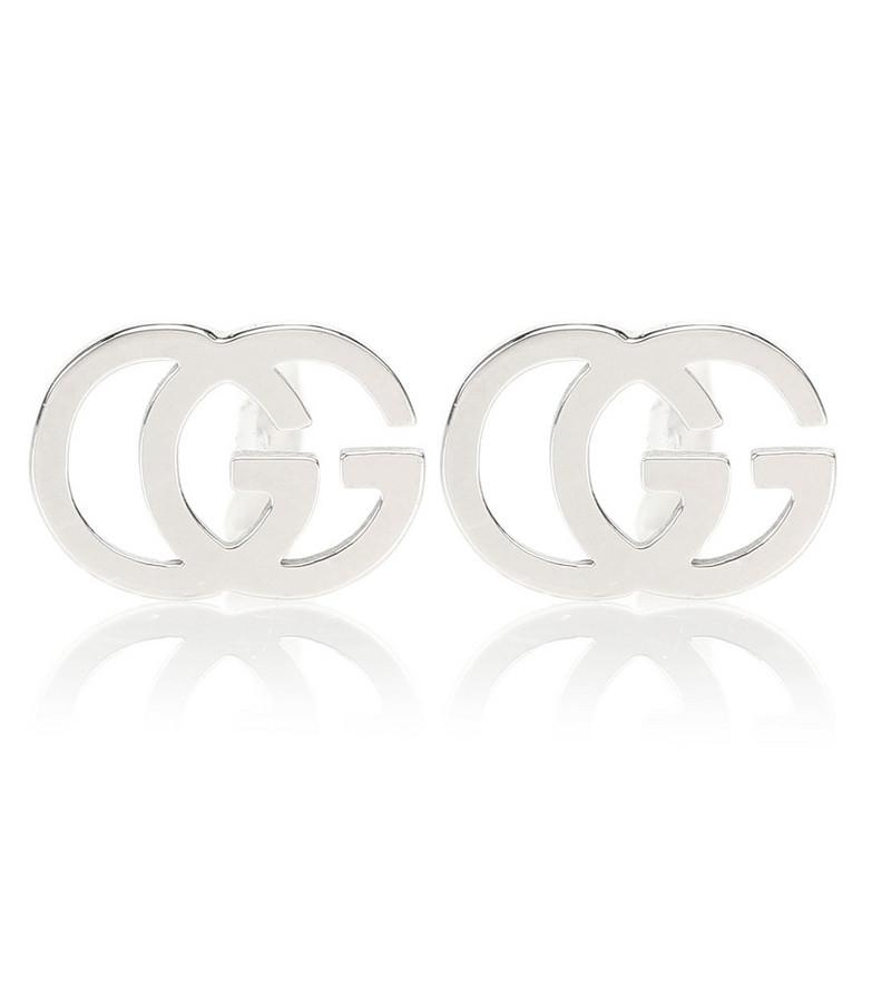 Gucci GG 18kt white gold earrings in metallic