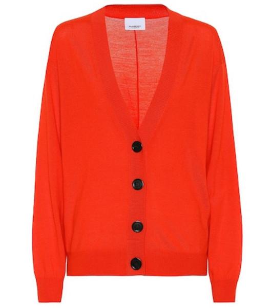 Burberry Merino wool cardigan in red