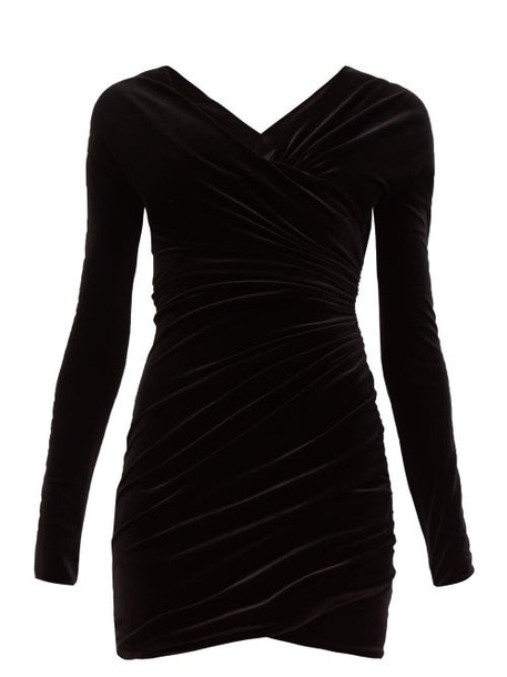 Alexandre Vauthier - Sweetheart Neckline Velvet Mini Dress - Womens - Black