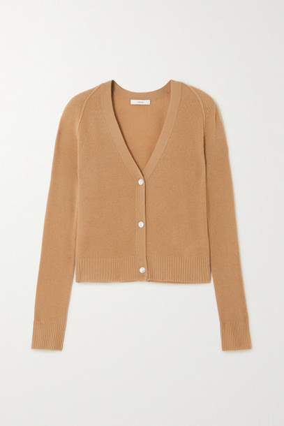 Vince - Ribbed Cashmere Cardigan - Sand