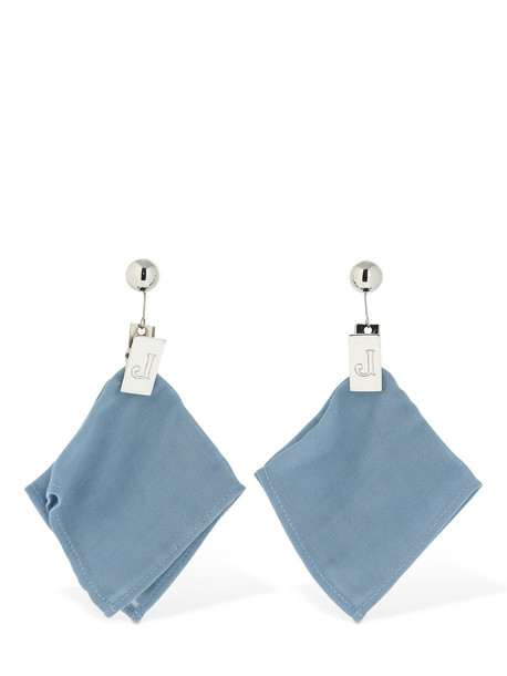 JACQUEMUS Les Mouchoirs Earrings in blue