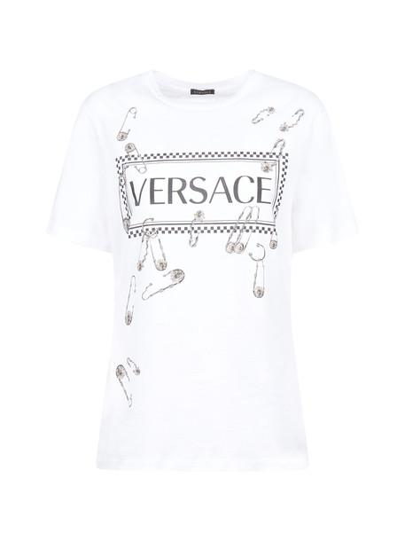 Versace Short Sleeve T-Shirt in bianco