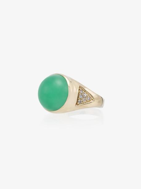 Jacquie Aiche 14kt gold diamond signet ring