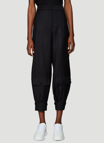 Stella McCartney Tapered Tailored Pants in Black size IT - 40