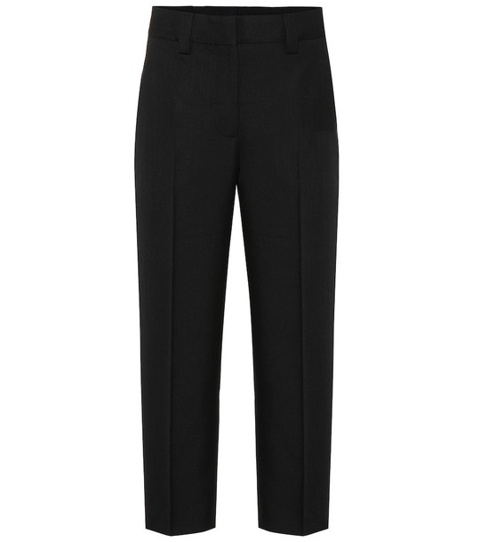 Acne Studios Wool-blend twill straight pants in black