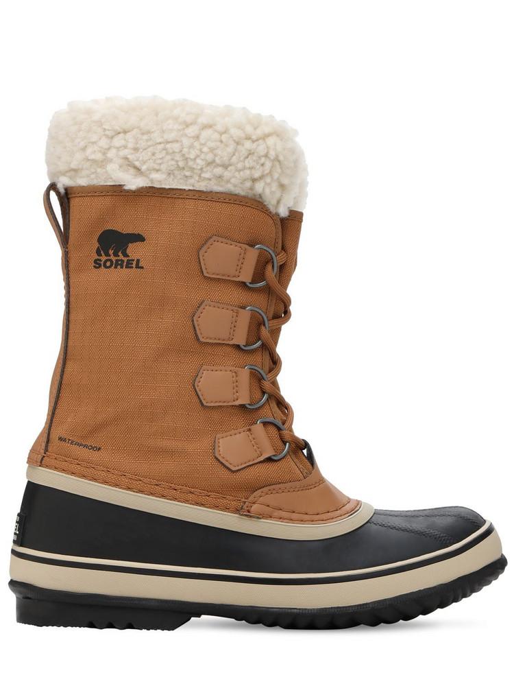 SOREL Winter Carnival Waterproof Nylon Boots in brown