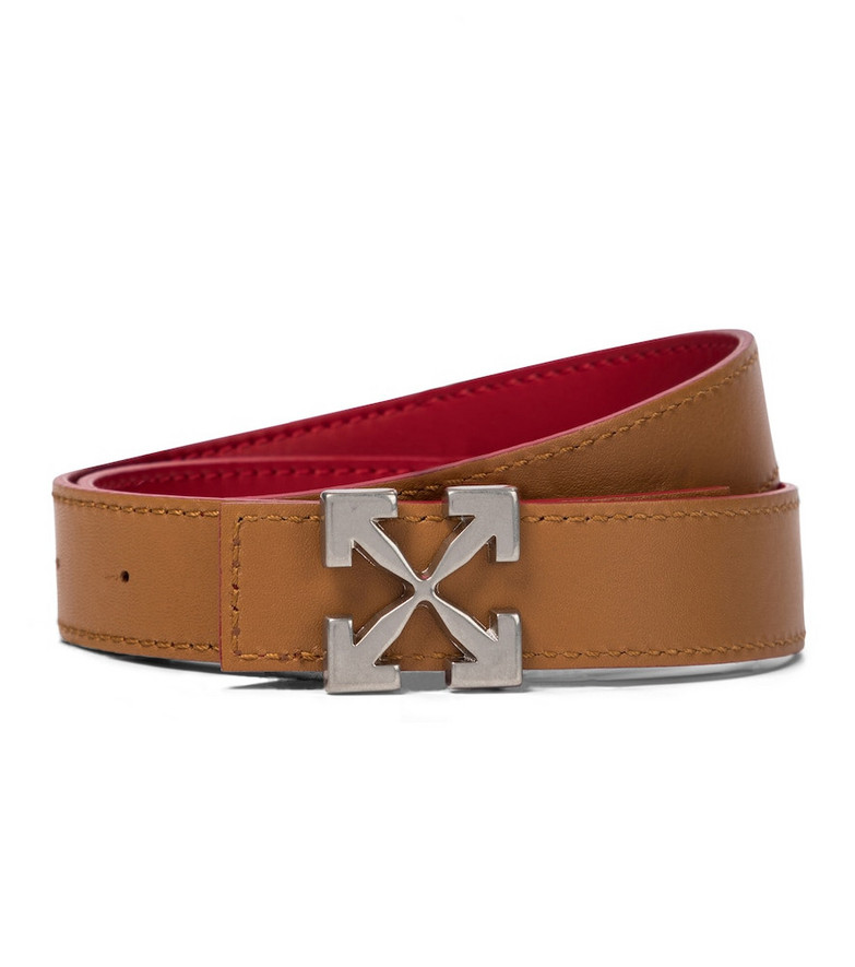 Off-White Arrow leather belt in brown