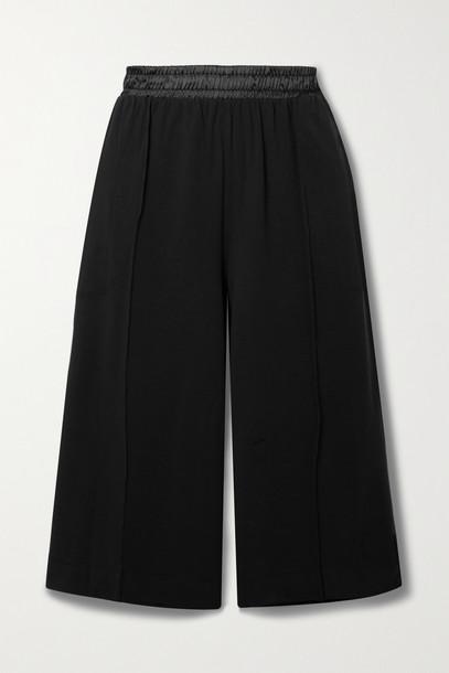 ATM ANTHONY THOMAS MELILLO - Satin-trimmed Stretch-pima Cotton Jersey Shorts - Black
