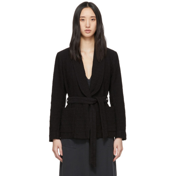 Raquel Allegra Black Belted Jacket