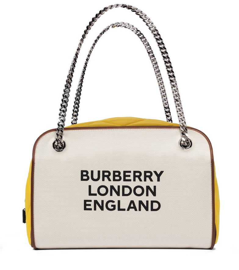 Burberry Exclusive to Mytheresa – Cube Large canvas tote in beige
