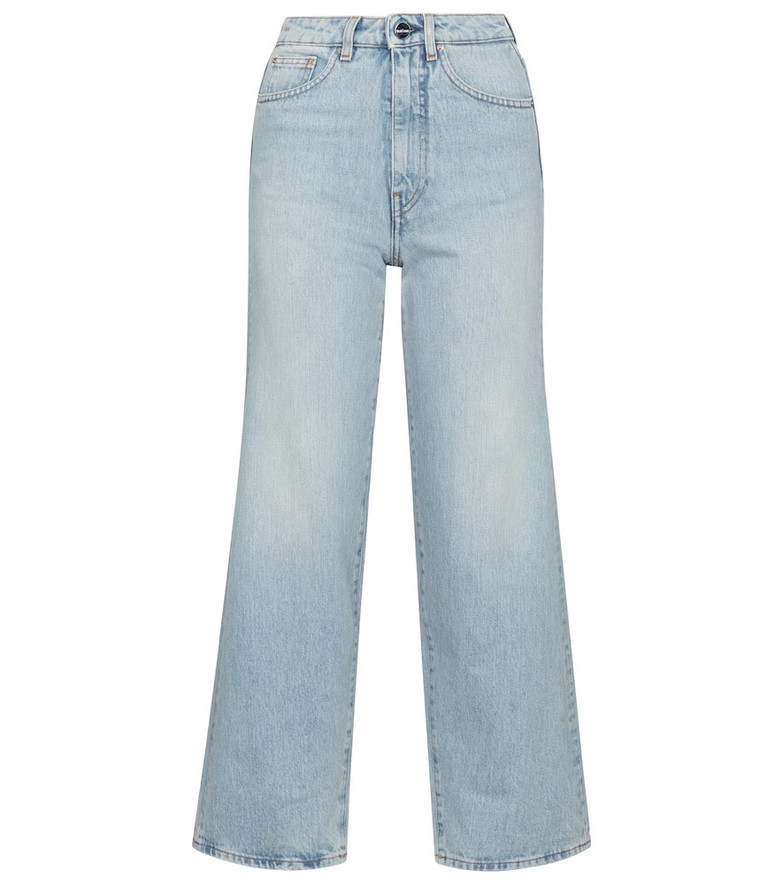 Toteme High-rise flared jeans in blue