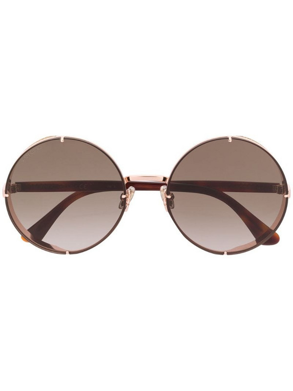 Jimmy Choo Eyewear Lilos circle frame sunglasses in brown