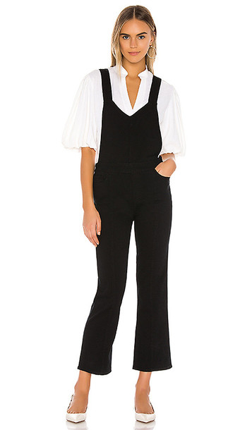 PAIGE Atley Ankle Flare Overall with Seaming in Black
