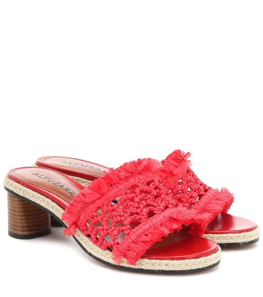 Altuzarra Tack woven sandals in red