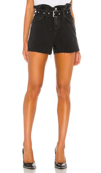 ALLSAINTS Hannah Paperbag Short in black