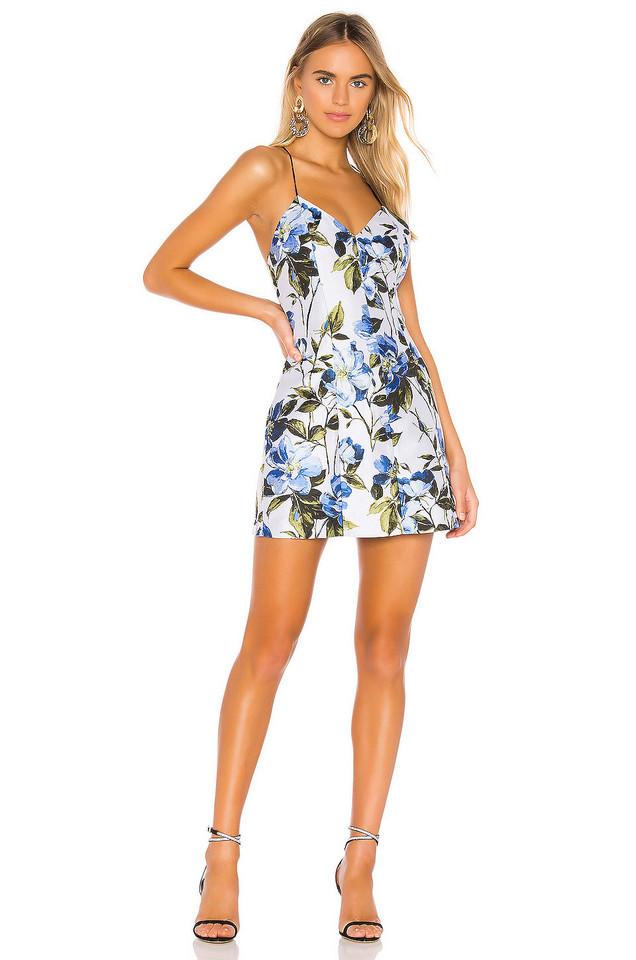 ae7e26c9bc6 Alice Olivia  Triss  Leather Trim Maxi Dress 4  595