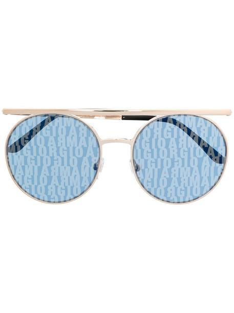Giorgio Armani round-frame sunglasses - Gold
