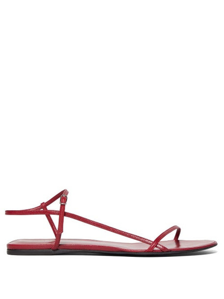 The Row - Bare Leather Sandals - Womens - Red