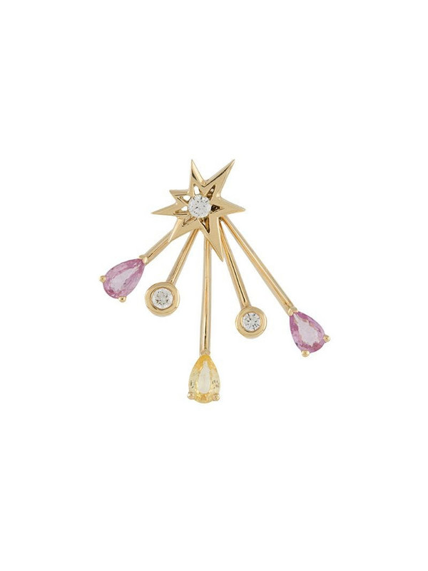LE STER 18kt yellow gold diamond Rose More Trailblazer jacket and Bang stud