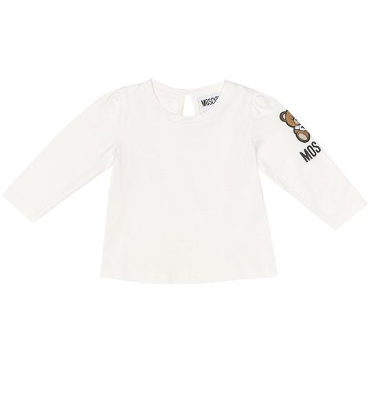 Moschino Kids Baby appliquéd cotton top in white