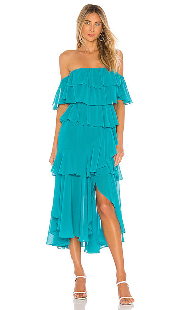 MISA Los Angeles Dalila Dress in Turquoise