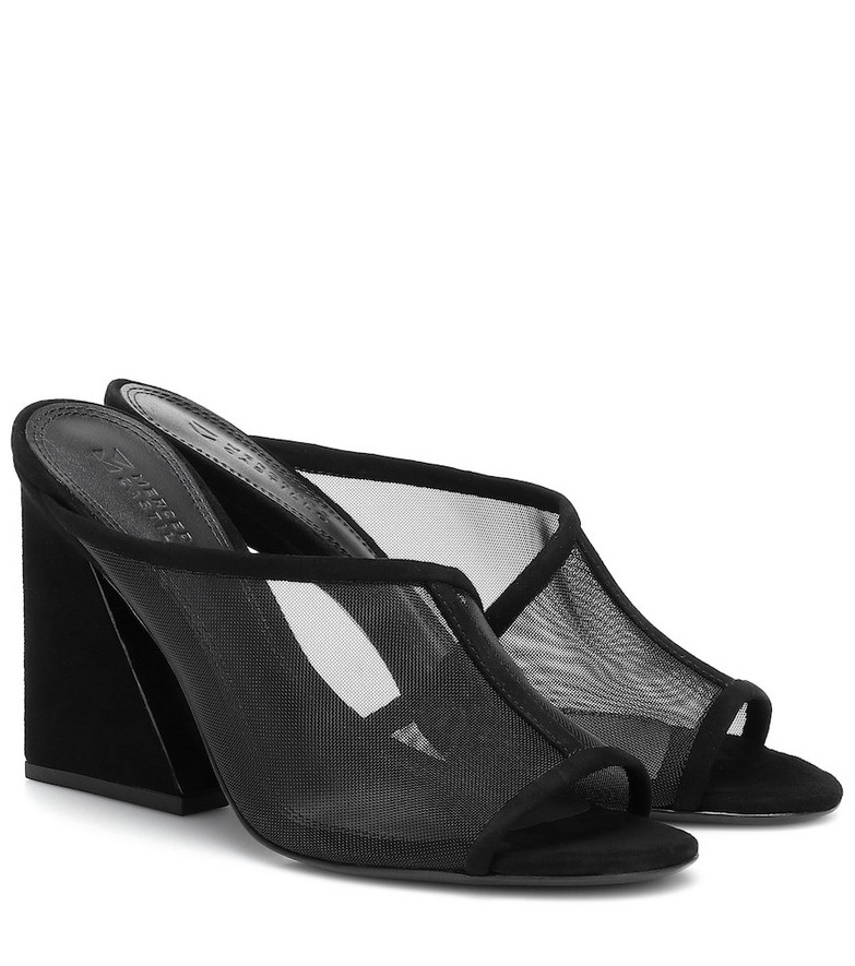Mercedes Castillo Lathasa leather and mesh sandals in black