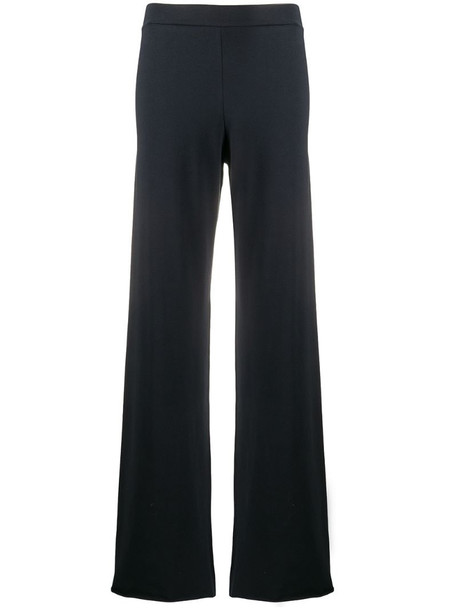 Stefano Mortari knitted flared trousers in blue