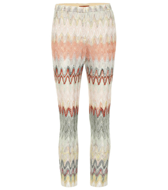 Missoni Crochet-knit cropped pants