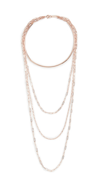 Isabel Marant Layered Long Necklace in pink