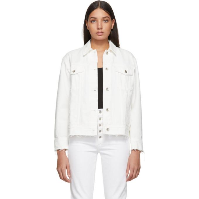 rag and bone rag & bone White Denim Oversized Jacket