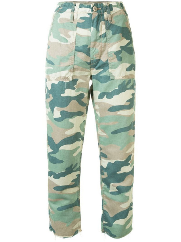 Mother The Shaker camouflage jeans in green