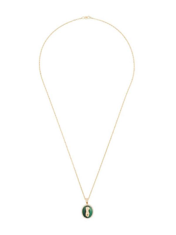 O Thongthai 14kt yellow gold Virgo diamond necklace