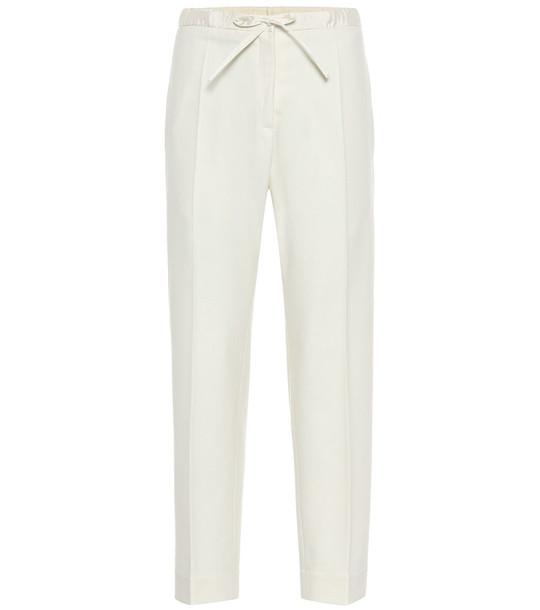 Jil Sander High-rise straight wool-blend pants in beige