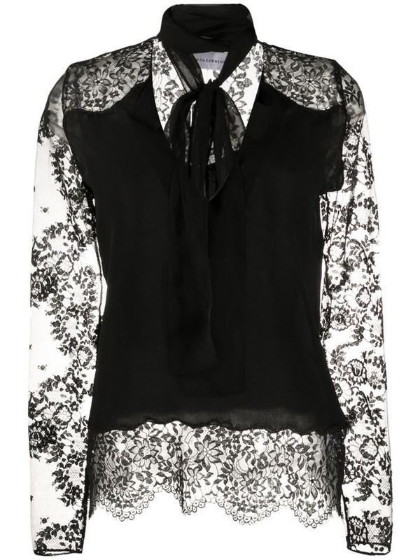 Faith Connexion lace sleeve blouse in black