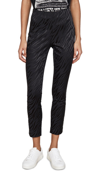 Rag & Bone Zebra Simone Pants in black
