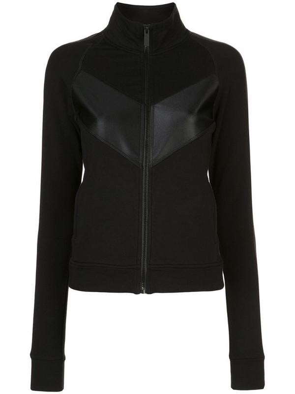 ALALA panelled zip-up sweatshirt in black
