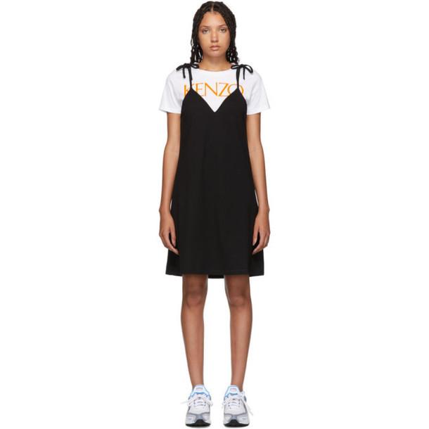 Kenzo Black T-Shirt Mini Dress