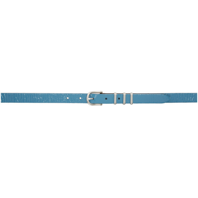 rag and bone rag & bone Blue Patent Jet Belt