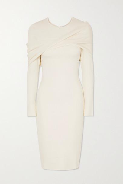 AZ Factory - Mybody Draped Ribbed Stretch-knit Dress - White