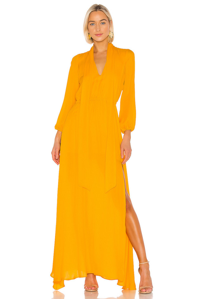 Cynthia Rowley Ella Maxi Dress in yellow