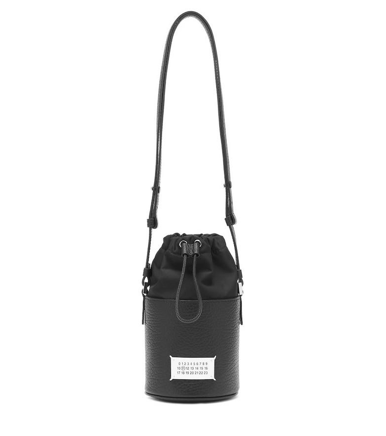 Maison Margiela 5AC Mini leather bucket bag in black