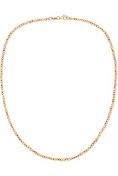 Carolina Bucci - Disco Ball 18-karat Yellow And Rose Gold Necklace
