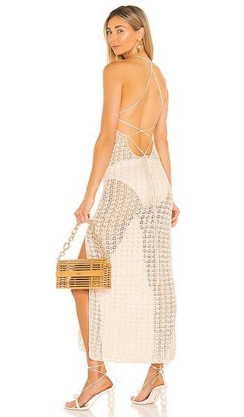 Cult Gaia Demi Knit Dress in Cream in white